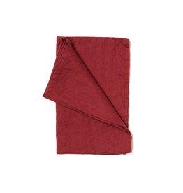 Not Perfect Linen Deep Burgundy Linen Tea Towel