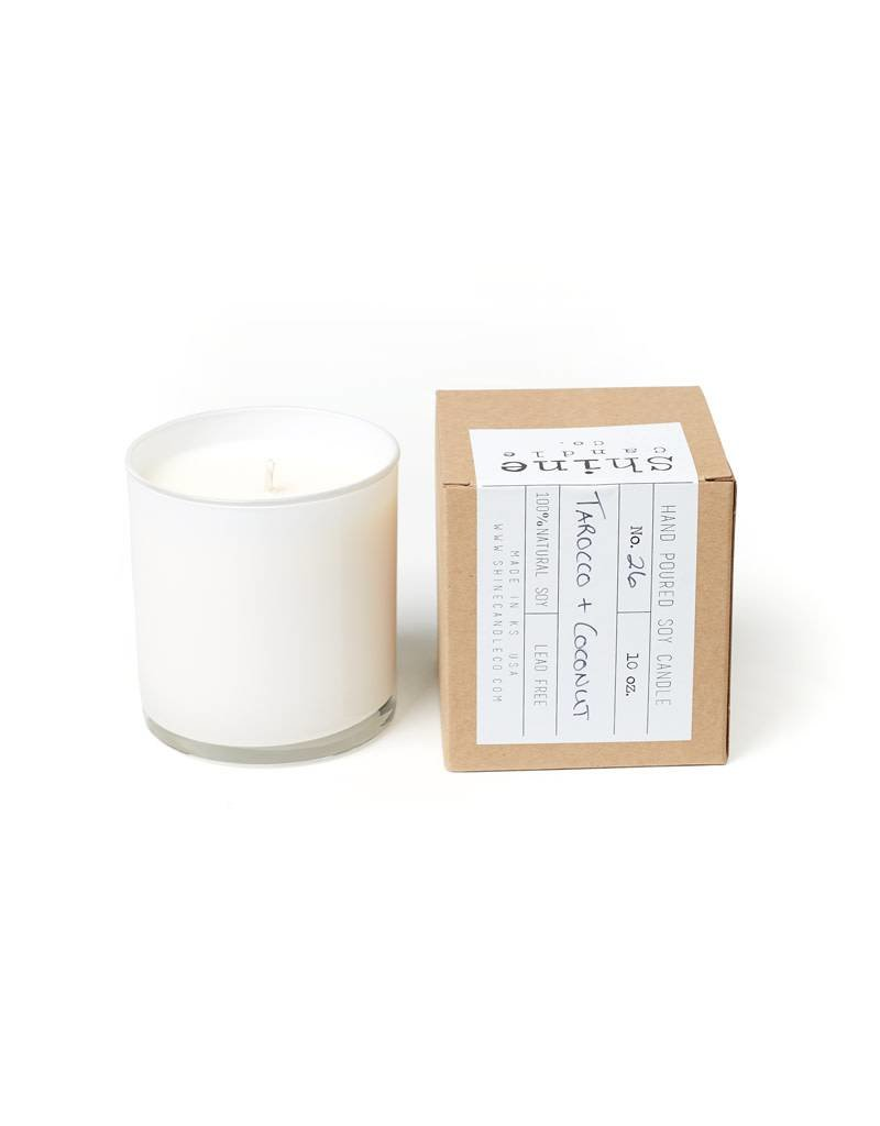 Shine Candle Co White Tarocco + Coconut Candle