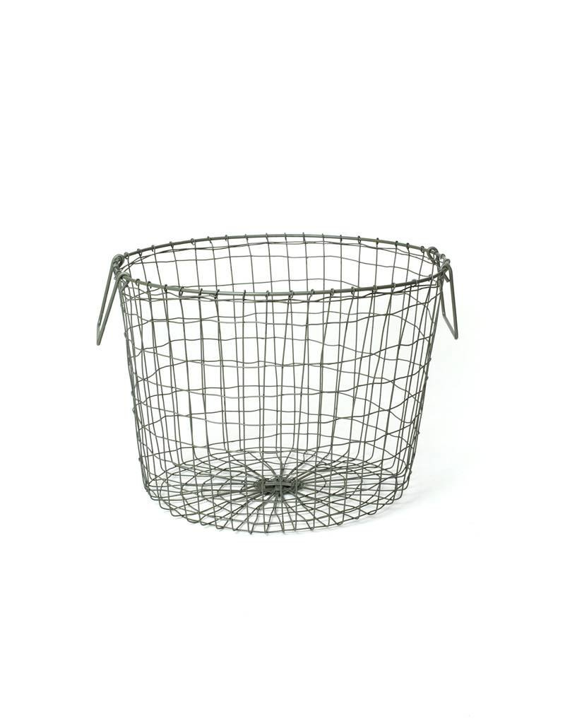 Fog Linen Round Wire Basket Large