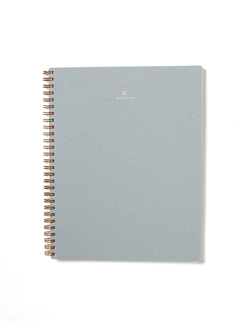 Appointed Dove Gray Notebook, Grid