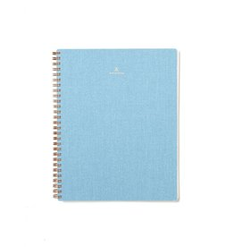 Appointed Notebook- Chambray, Grid