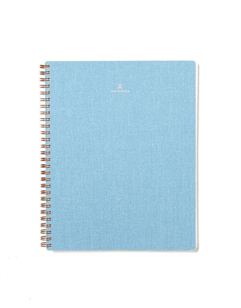 Appointed Chambray Notebook, Grid