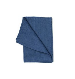 Not Perfect Linen Denim Blue Linen Tea Towel