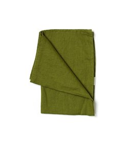 Not Perfect Linen Moss Green Linen Tea Towel