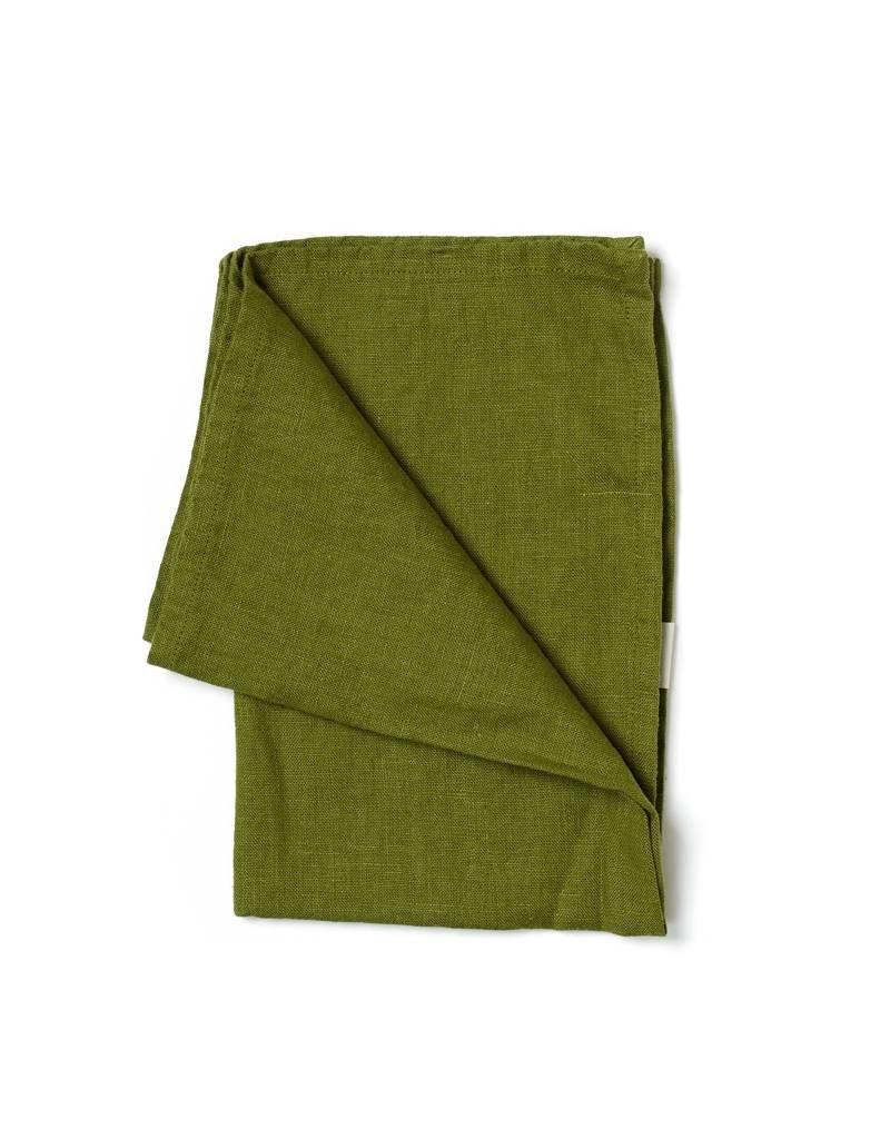 Not Perfect Linen Moss Green Linen Tea Towel