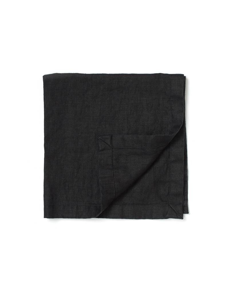 Not Perfect Linen Deepest Black Linen Napkins S/4