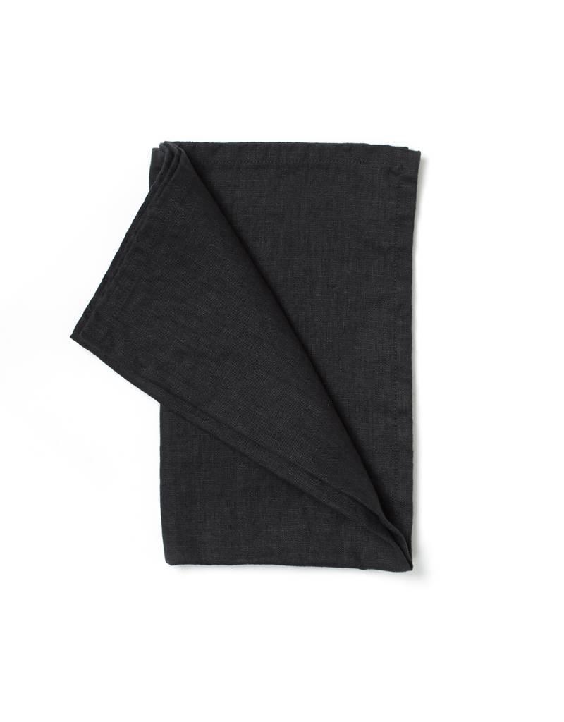 Not Perfect Linen Deepest Black Linen Tea Towel