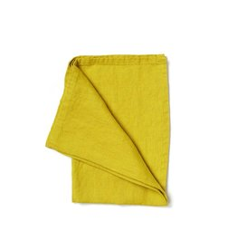 Not Perfect Linen Greenish Mustard Linen Tea Towel