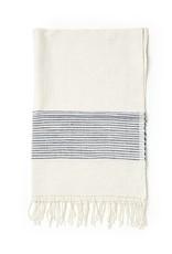 Creative Women Handwoven Hand Towels Navy Ribs