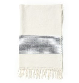 Creative Women Handwoven Hand Towels Navy Ribs
