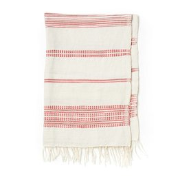 Creative Women Handwoven Hand Towels Natural w/ Adobe Stripes