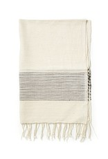 Creative Women Handwoven Hand Towels Gray Ribs