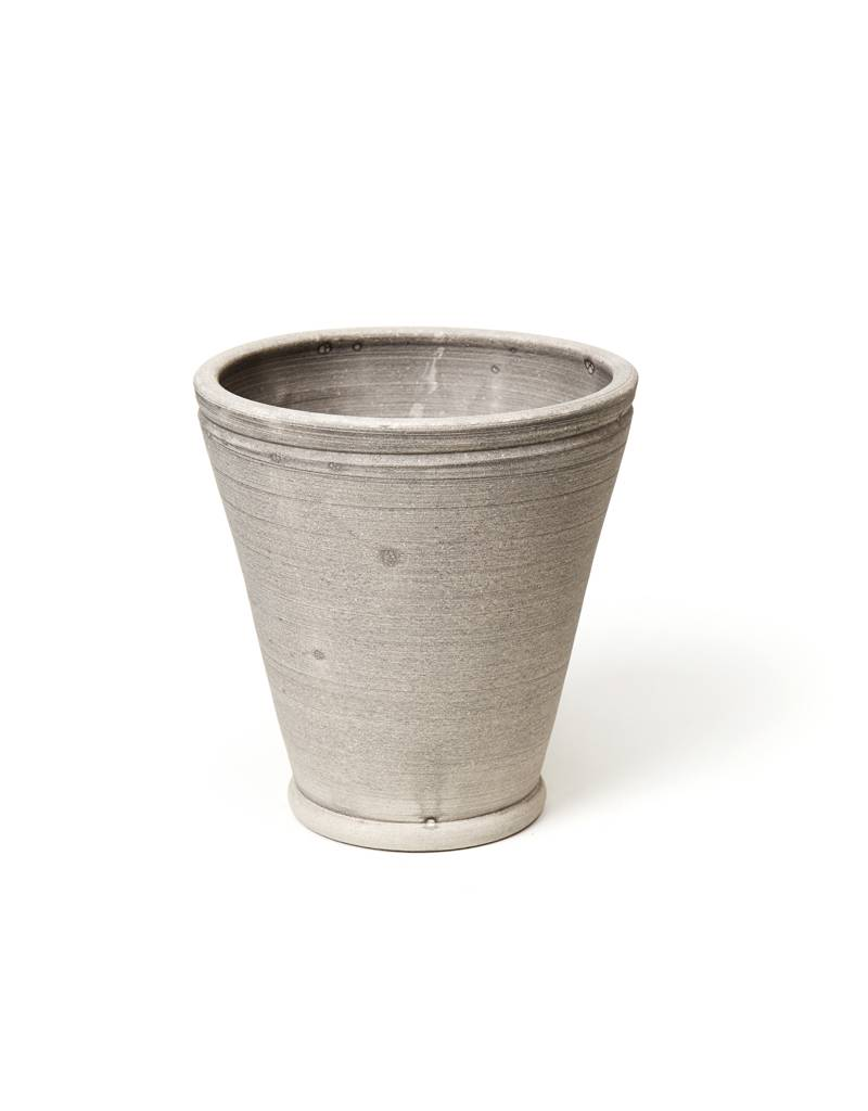 Ben Wolff #4 Footed Herb Grey Pot