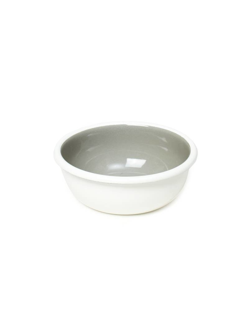 Bornn Enamelware Grey Bloom Bowl