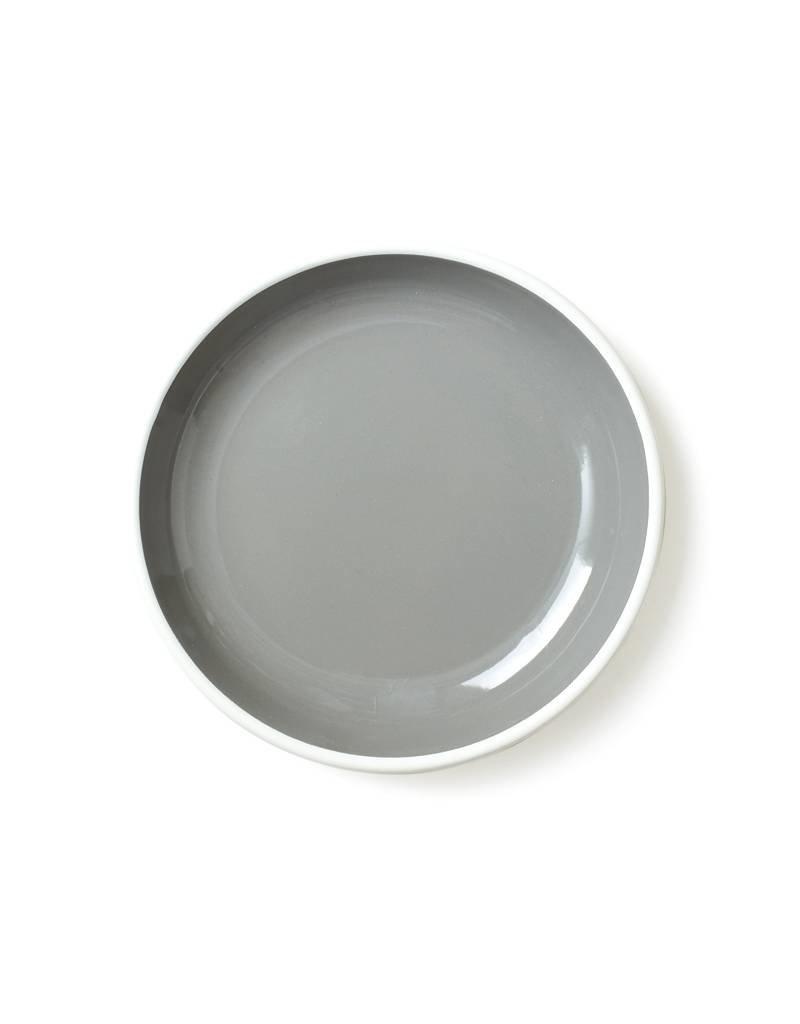 """Bornn Enamelware Grey Bloom Plate 8"""""""