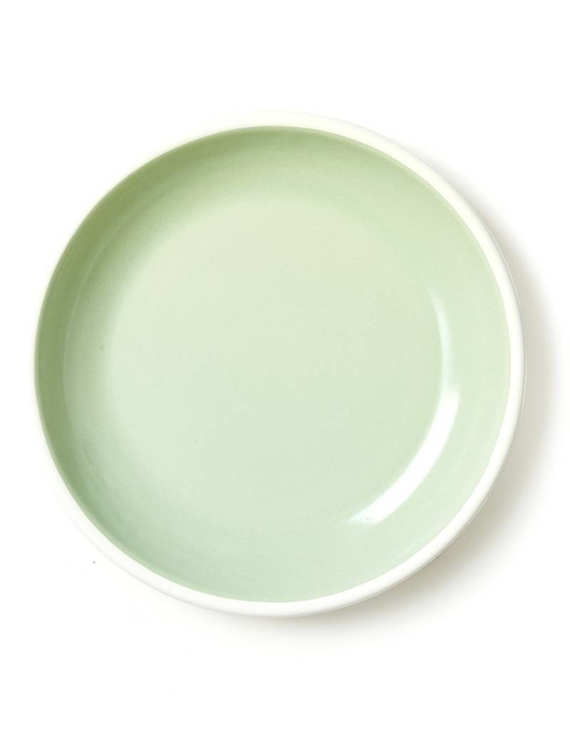 Bornn Enamelware Mint Bloom Plate 10""