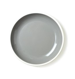 Bornn Enamelware Grey Bloom Plate 10""