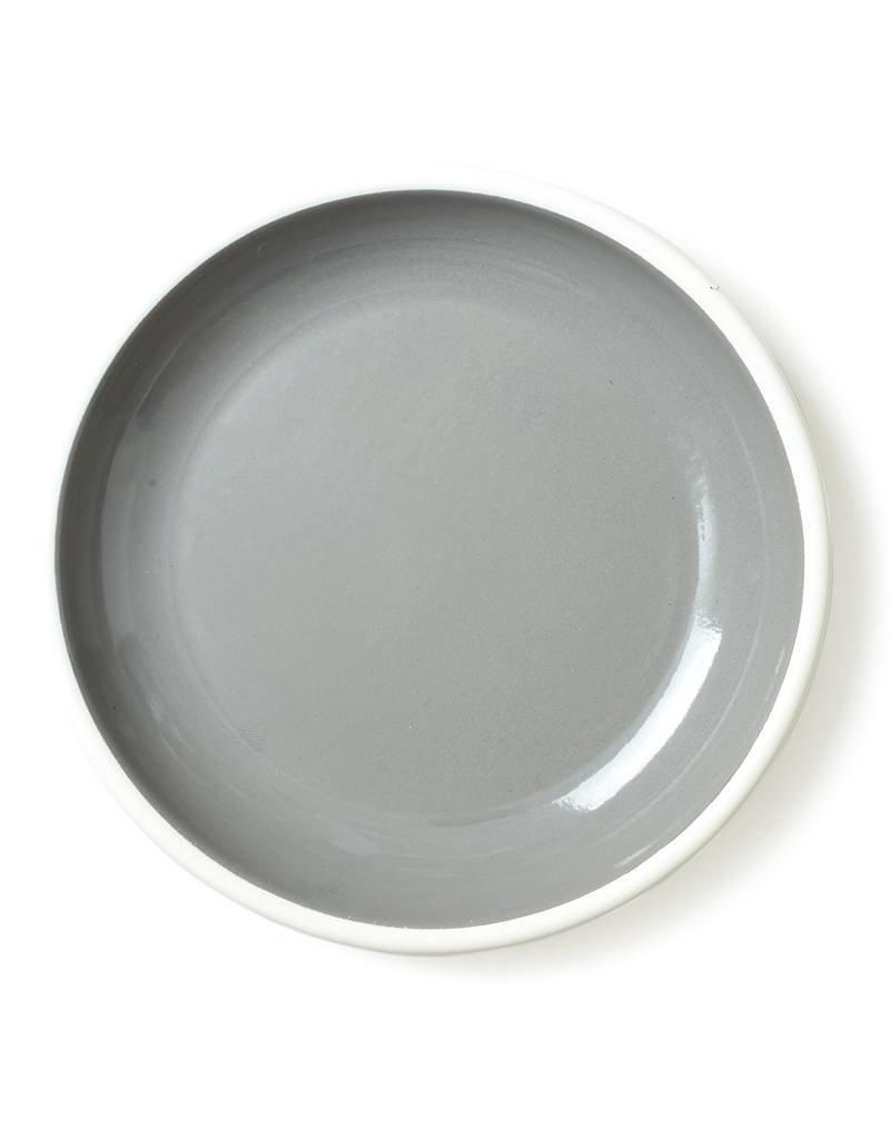 """Bornn Enamelware Grey Bloom Plate 10"""""""