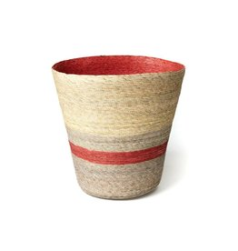Makaua Conical Palm Leaf Basket Piminto Stripe