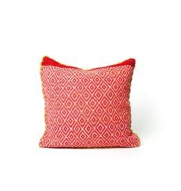 Shupaca Heirloom Pillow 20x20 B Neon Pink Diamonds