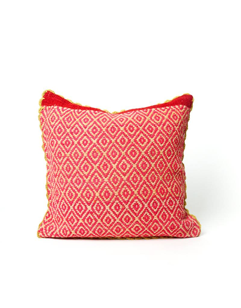 Shupaca Neon Pink Diamond Heirloom Pillow