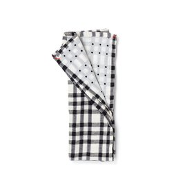 Small Gunns Black Checks & Dots Tea Towel