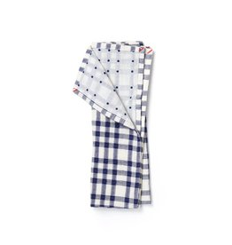 Small Gunns Blue Checks & Dots Tea Towel
