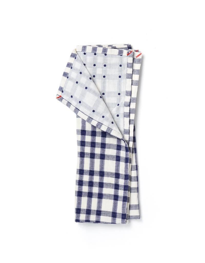 Small Gunns Blue Checks & Dots Tea Towel