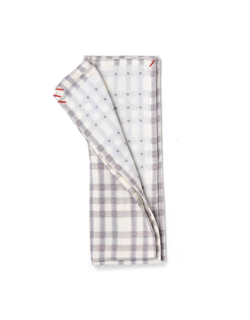 Small Gunns Gray Checks & Dots Tea Towel