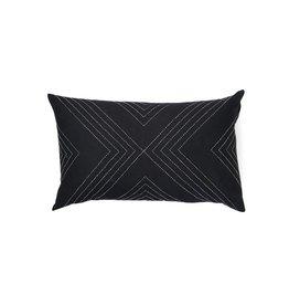 Anchal Project Black Geometric Lumbar Pillow