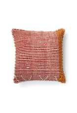 Shupaca Heirloom Pillow 20x20 B Hot Pink Stripes