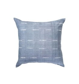 Tensira Handwoven and Dyed Gray Faint Stripe Pillow
