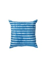 Tensira Handwoven and Dyed Light Indigo Thin Stripe Pillow