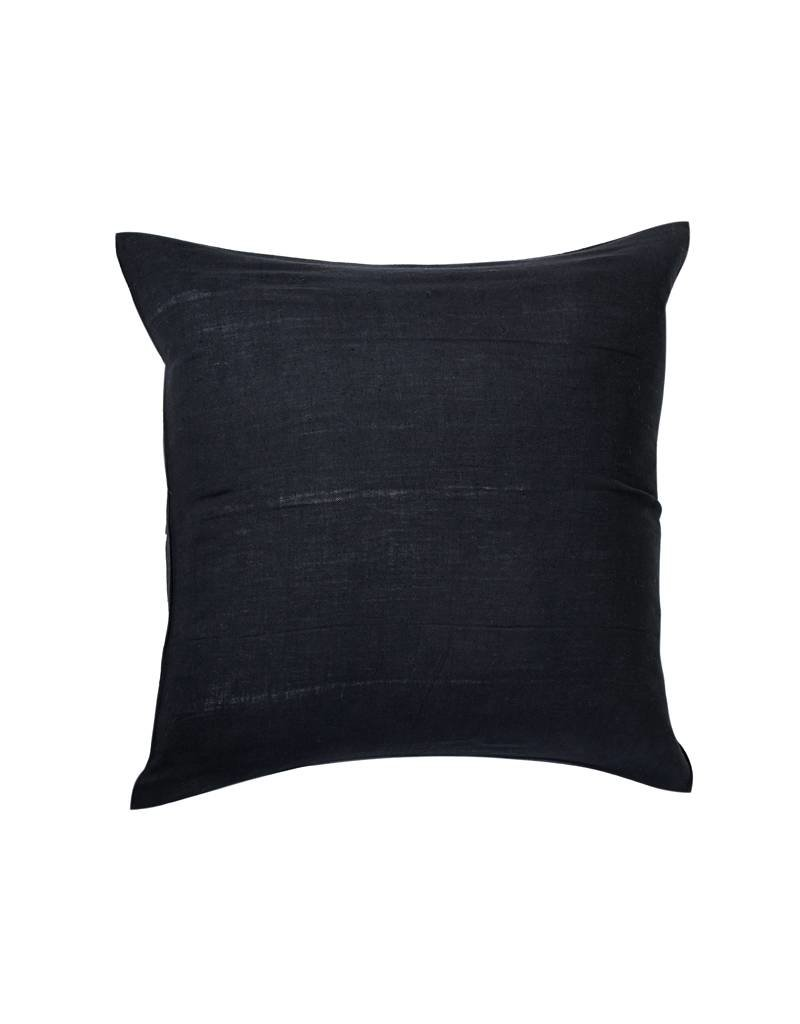 Tensira Handwoven and Dyed Black Pillow