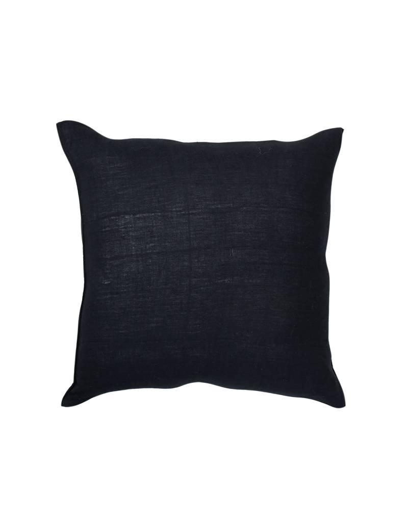 Tensira Handwoven & Dyed Black Pillow