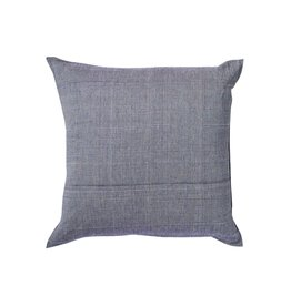 Tensira Handwoven Navy Pillow with Teeny Lines