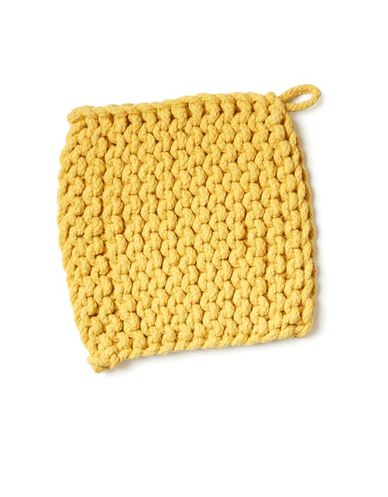 Danica Studio Mustard Knit Pot Holder