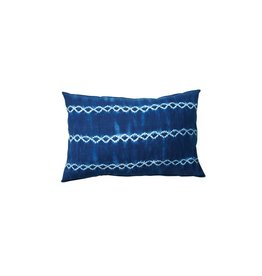 Tensira Dark Indigo Interlocking Stripe Pillow