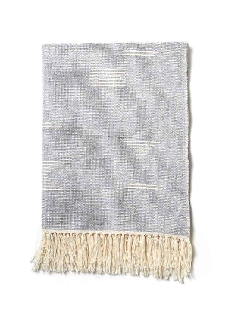 Minna Shapes Tea Towel Blue