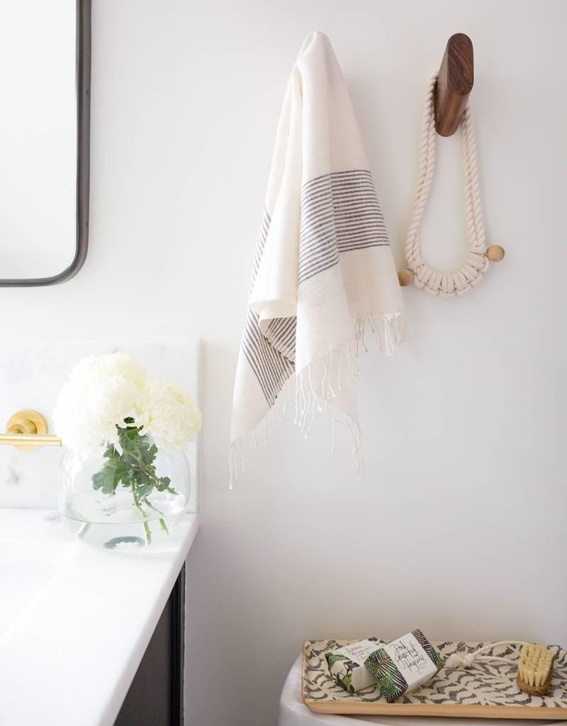 Creative Women Handwoven Hand Towels Gray Ribs