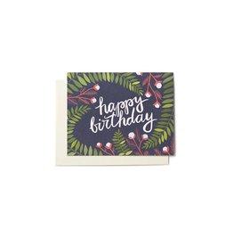 1 Canoe 2 Birthday Ferns Card