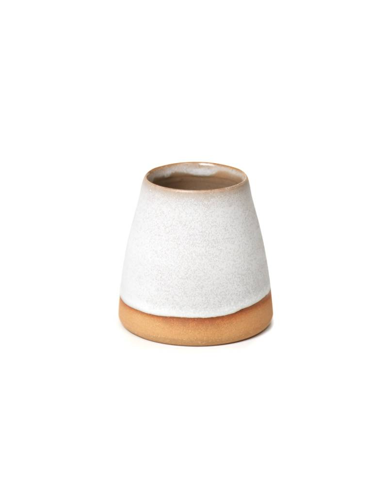 Shelter Collection White & Natural Vase, Medium