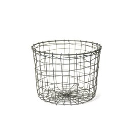 Fog Linen Round Wire Basket Small