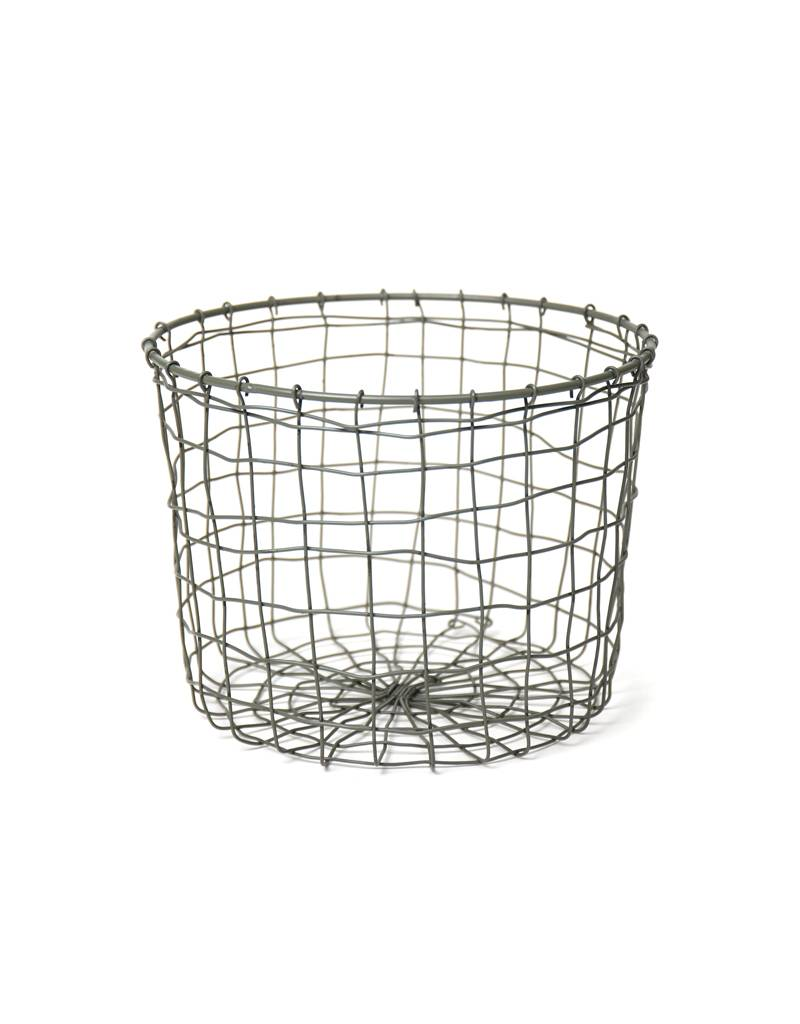 Fog Linen Round Wire Basket Small