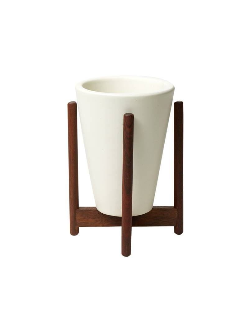 Modernica White Desk Top Funnel w/ Wood Stand