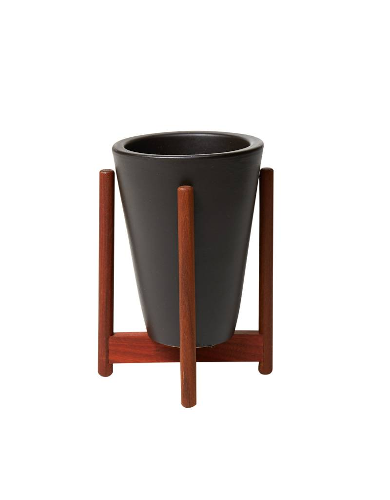 Modernica Charcoal Desk Top Funnel w/ Wood Stand