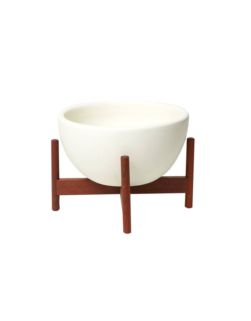 Modernica White Table Top Bowl w/Wood Stand