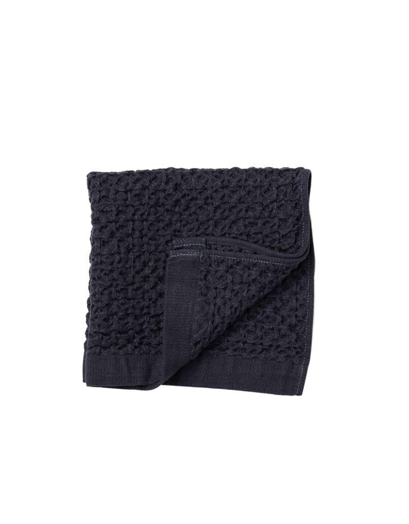 Morihata Navy Lattice Washcloth
