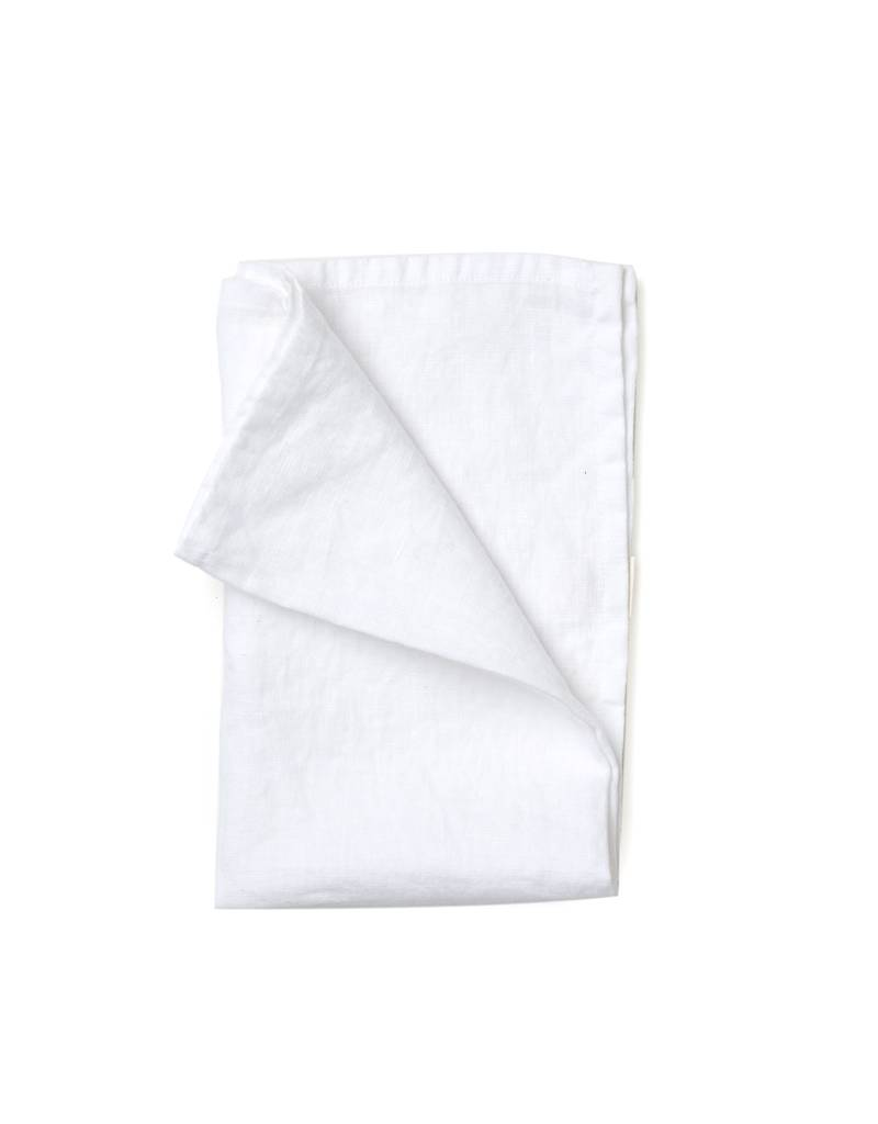 Not Perfect Linen White Linen Tea Towel