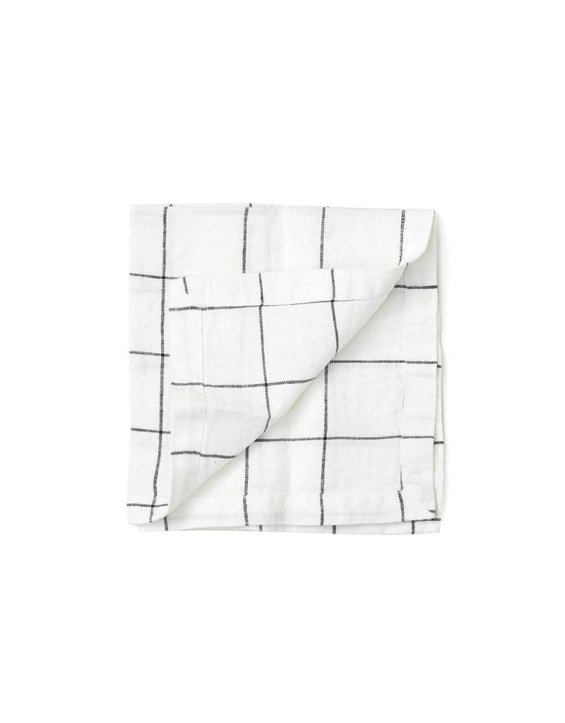Not Perfect Linen Large Checks Linen Napkins
